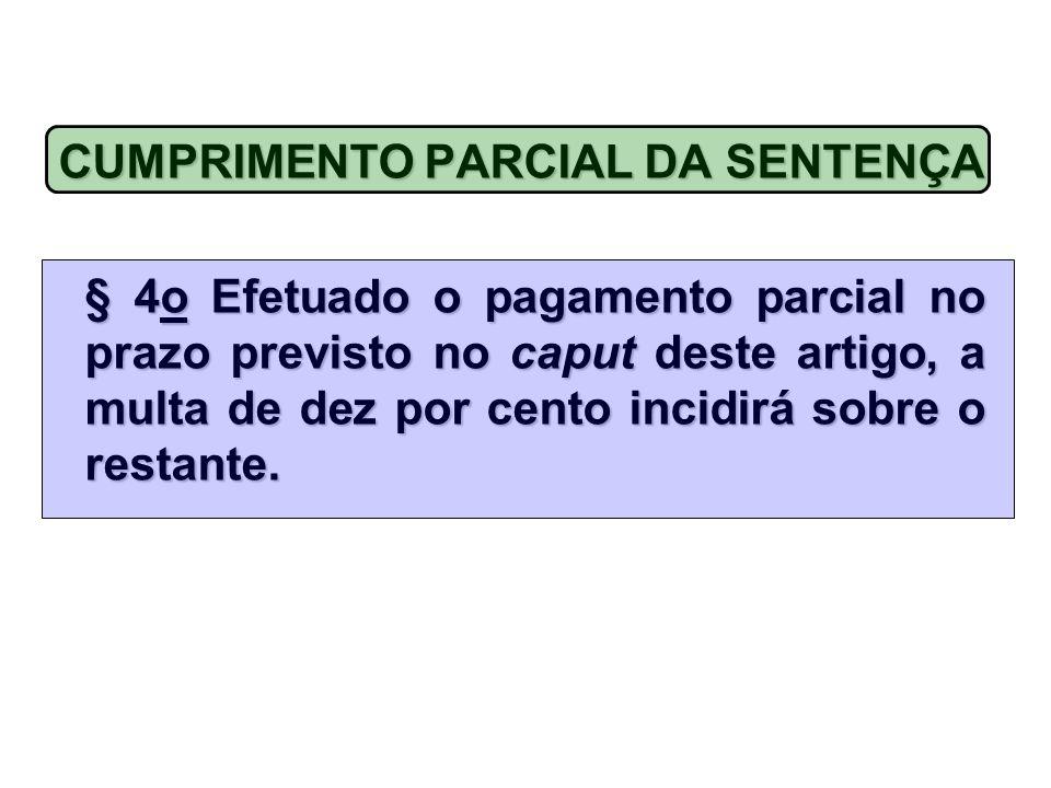 CUMPRIMENTO PARCIAL DA SENTENÇA