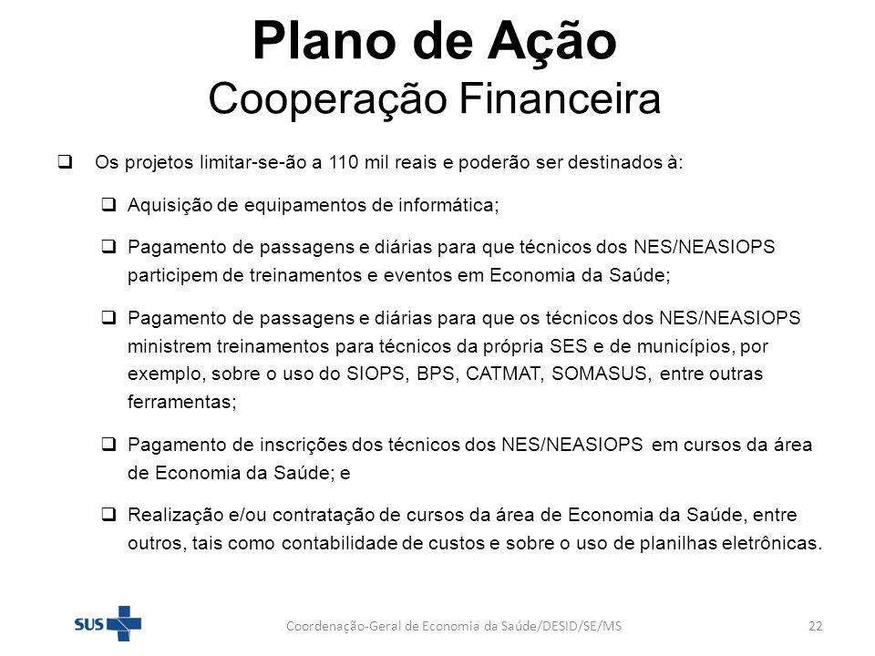 Plano de Ação Cooperação Financeira