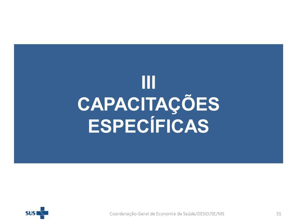 III CAPACITAÇÕES ESPECÍFICAS