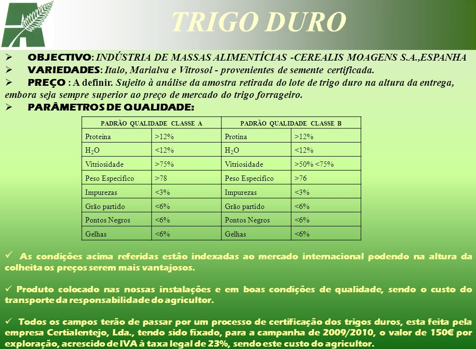 PADRÃO QUALIDADE CLASSE A PADRÃO QUALIDADE CLASSE B