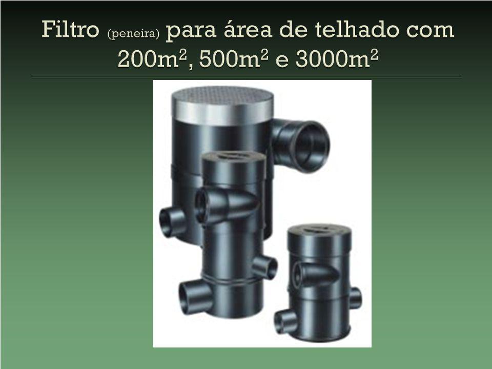 Filtro (peneira) para área de telhado com 200m2, 500m2 e 3000m2
