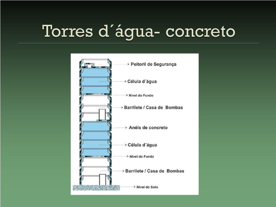 Torres d´água- concreto