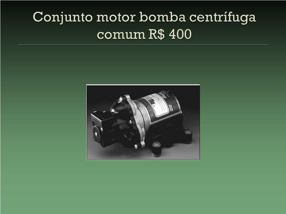 Conjunto motor bomba centrífuga comum R$ 400