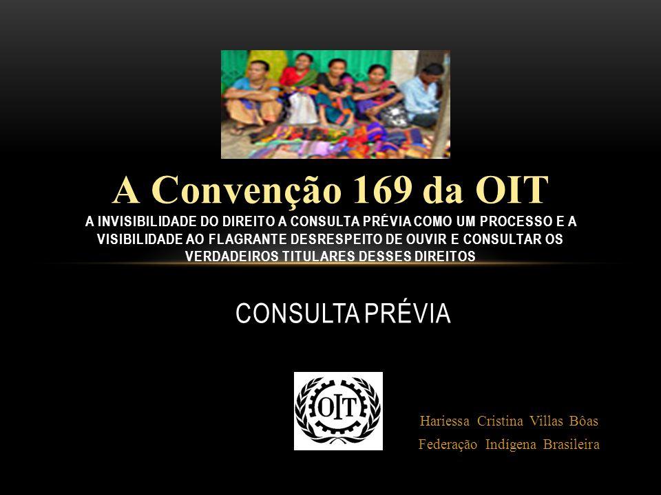 A Convenção 169 da OIT A invisibilidade do direito a consulta prévia como um processo e a visibilidade ao flagrante desrespeito de ouvir e consultar os verdadeiros titulares desses direitos
