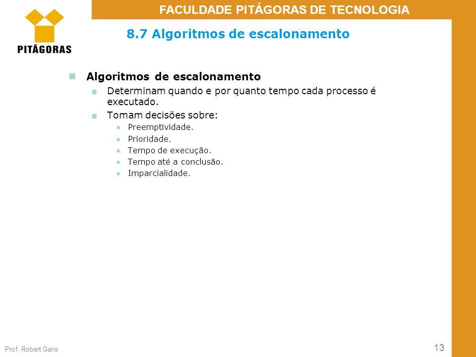 8.7 Algoritmos de escalonamento