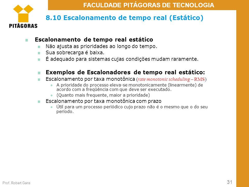 8.10 Escalonamento de tempo real (Estático)