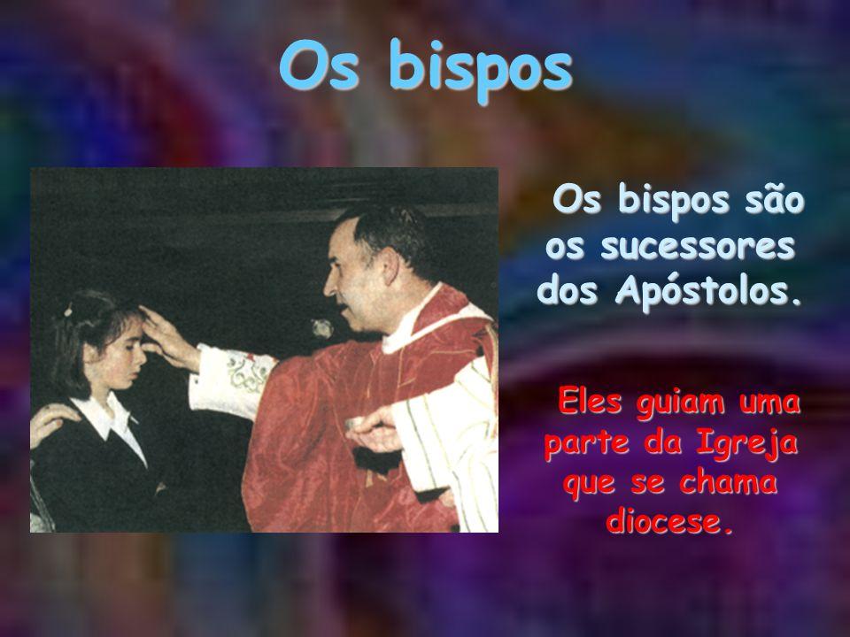 Os bispos Os bispos são os sucessores dos Apóstolos.