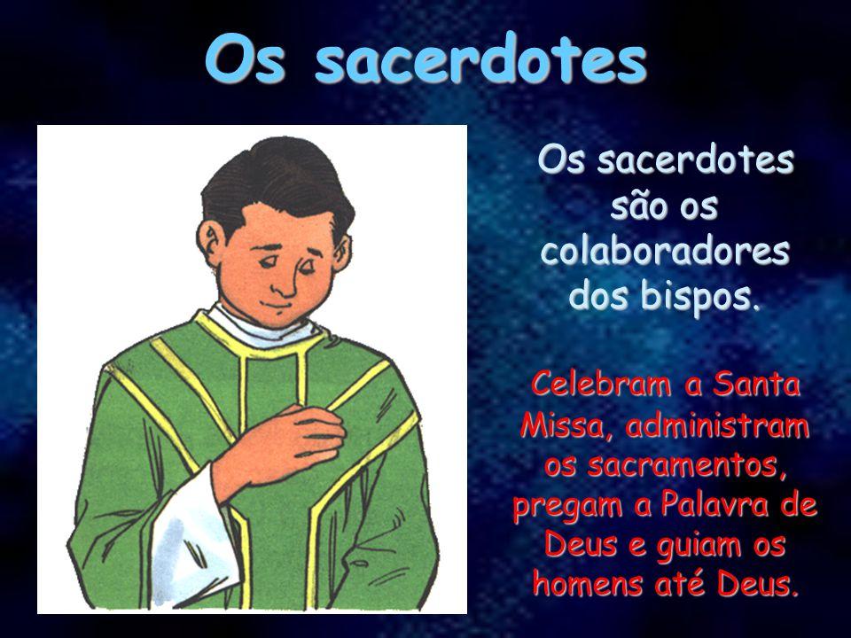 Os sacerdotes são os colaboradores dos bispos.