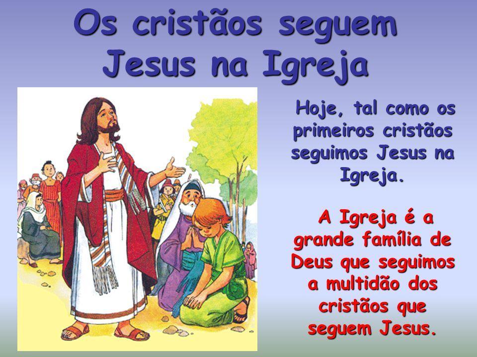 Os cristãos seguem Jesus na Igreja