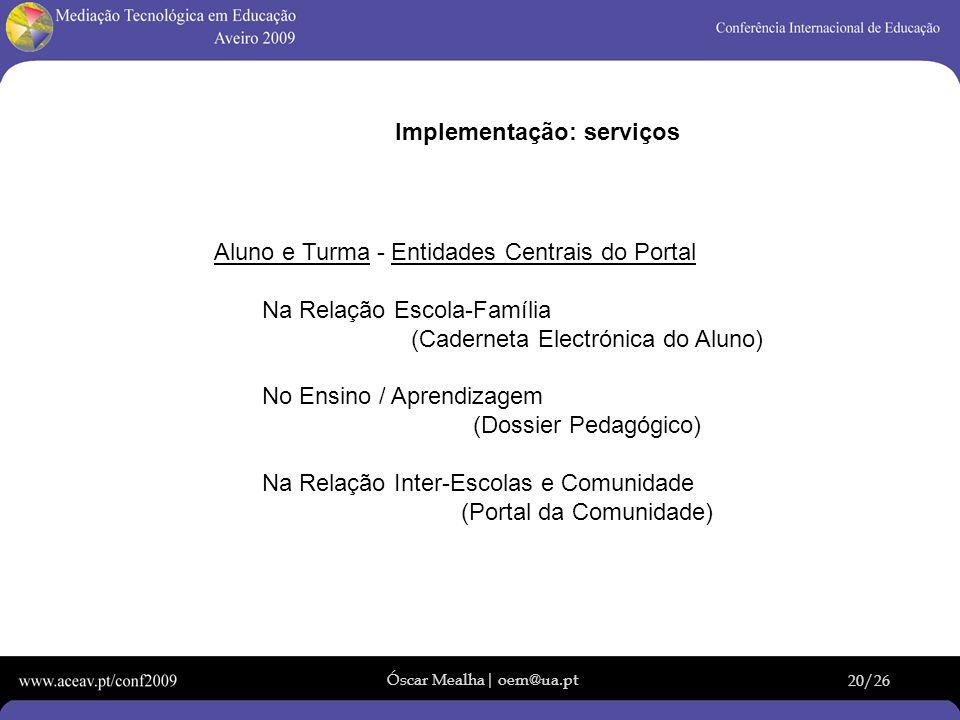 Implementação: serviços