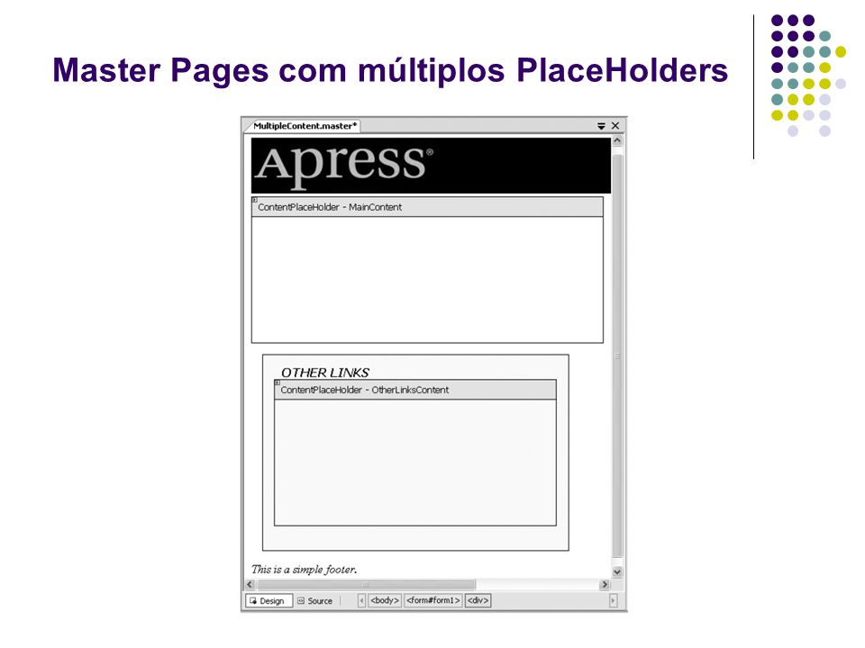 Master Pages com múltiplos PlaceHolders