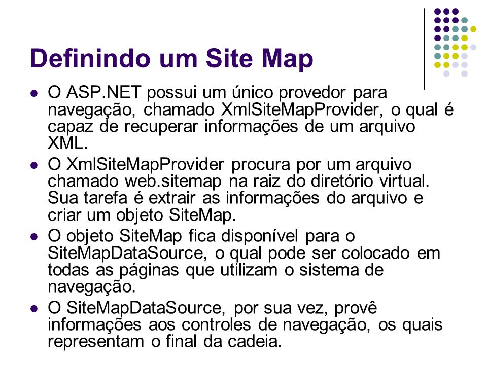 Definindo um Site Map