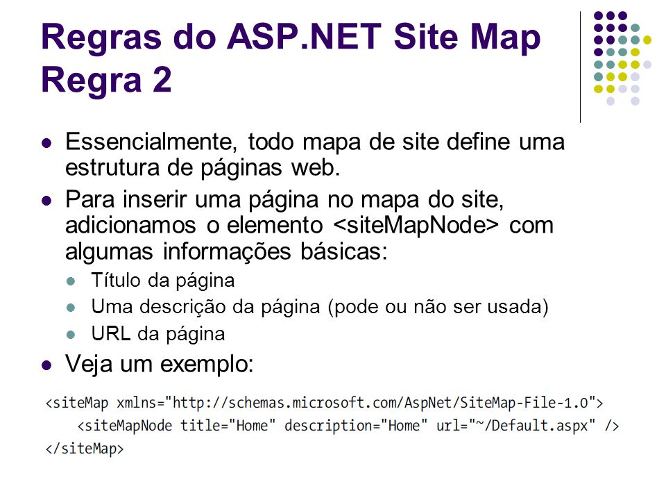 Regras do ASP.NET Site Map Regra 2