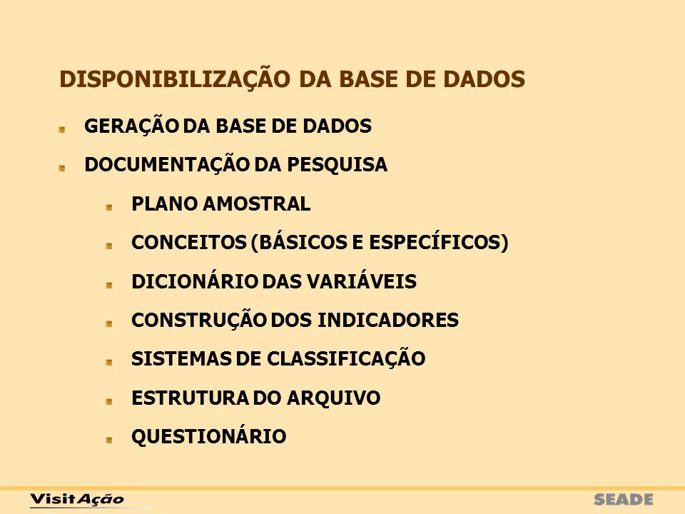 DISPONIBILIZAÇÃO DA BASE DE DADOS