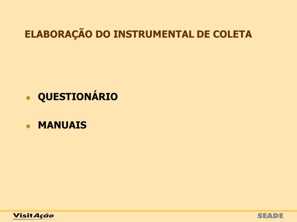 ELABORAÇÃO DO INSTRUMENTAL DE COLETA