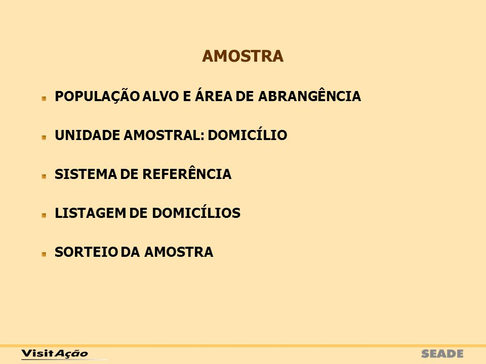 AMOSTRA POPULAÇÃO ALVO E ÁREA DE ABRANGÊNCIA