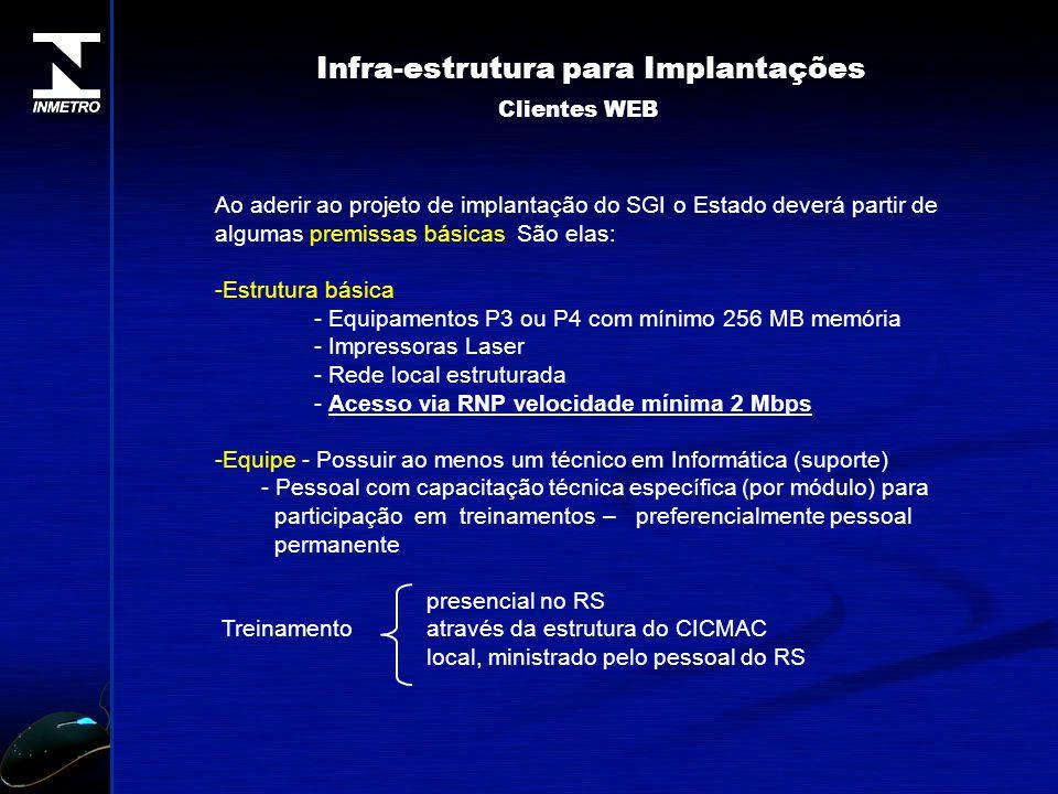 Infra-estrutura para Implantações
