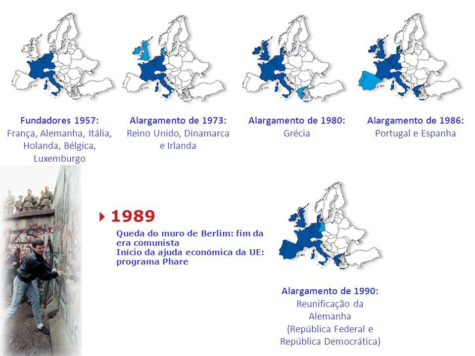 Fundadores 1957: França, Alemanha, Itália, Holanda, Bélgica, Luxemburgo