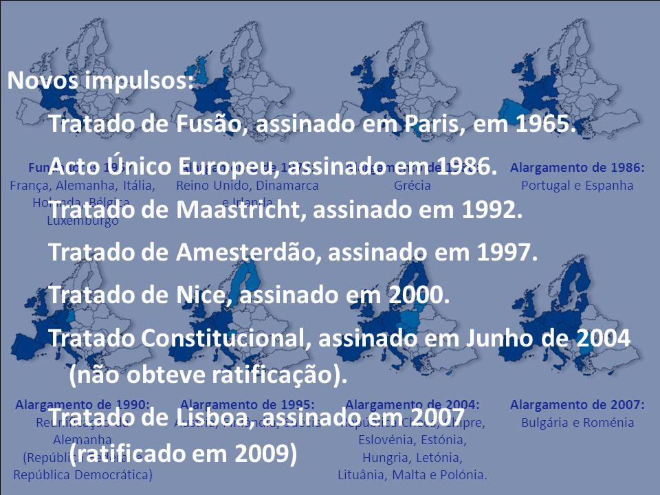 Tratado de Fusão, assinado em Paris, em 1965.