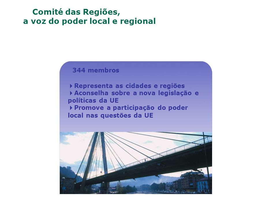 O Comité das Regiões, a voz do poder local e regional