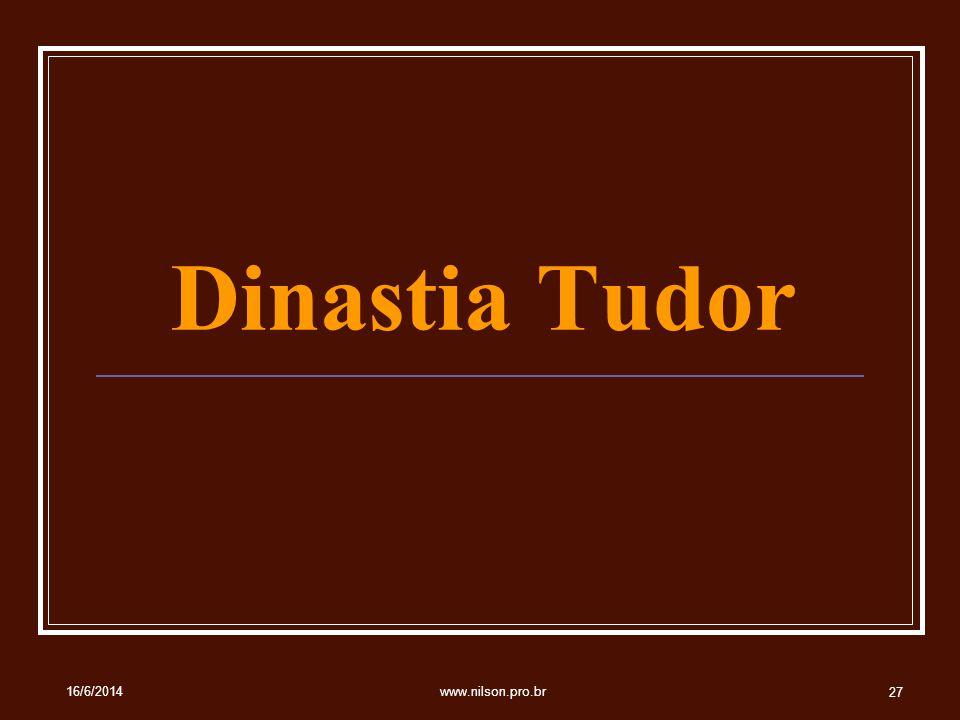 Dinastia Tudor 02/04/2017 www.nilson.pro.br
