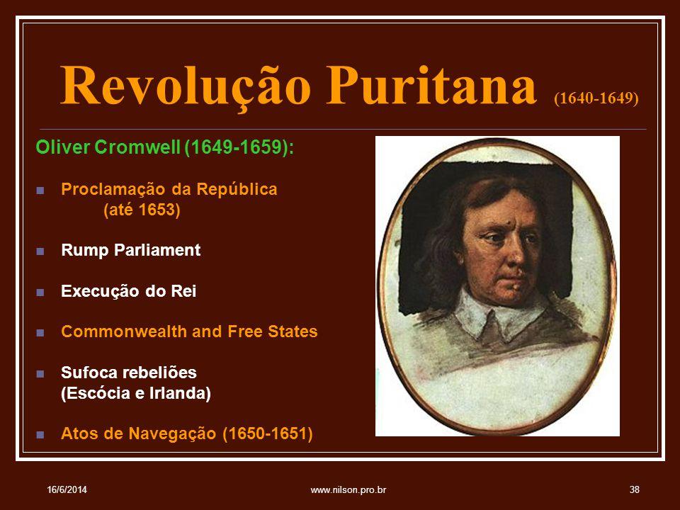 Revolução Puritana (1640-1649)