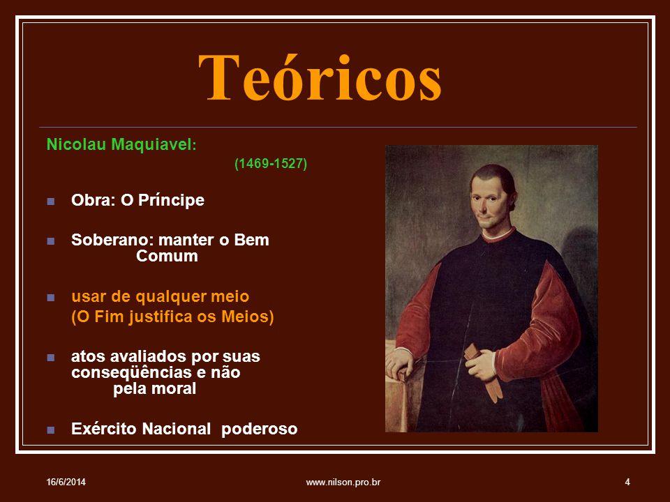Teóricos Nicolau Maquiavel: Obra: O Príncipe