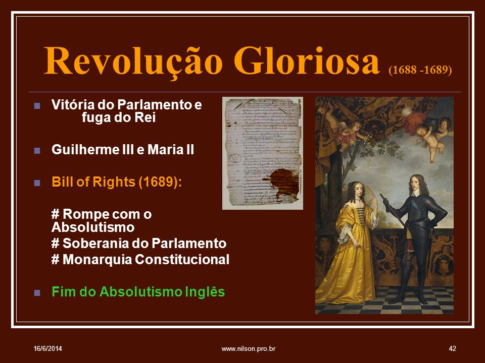 Revolução Gloriosa (1688 -1689)