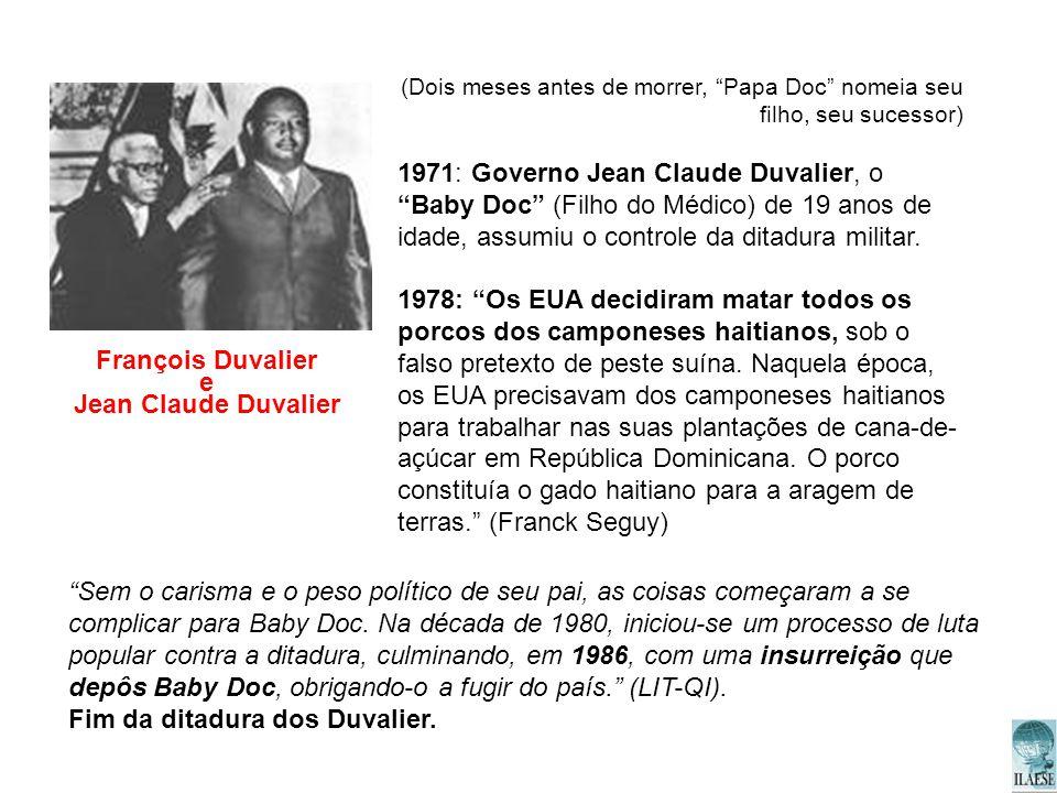 François Duvalier e Jean Claude Duvalier
