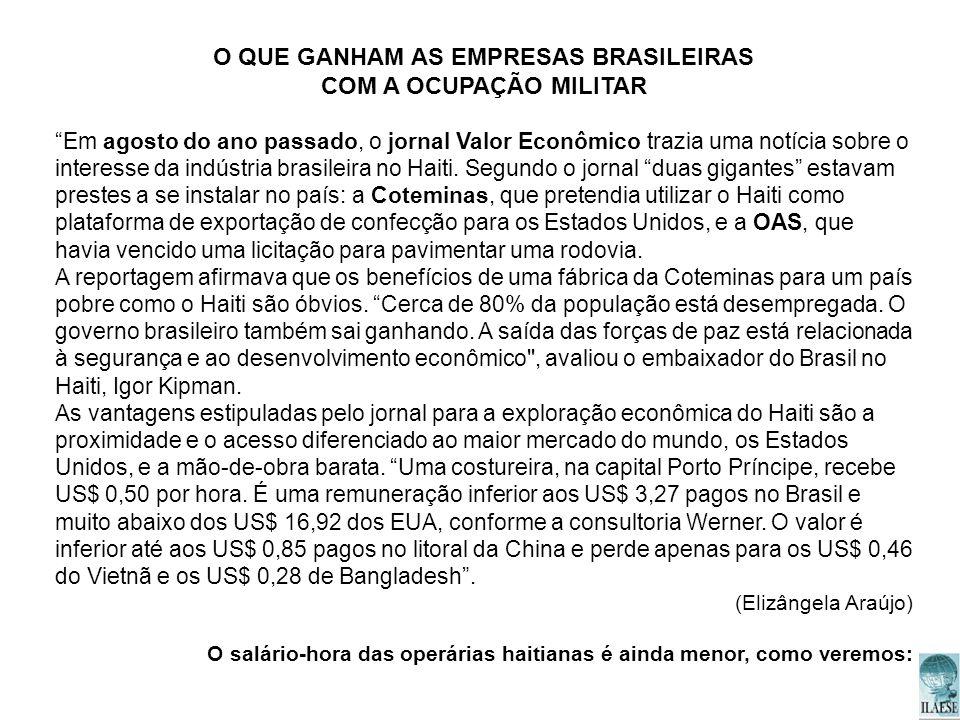 O QUE GANHAM AS EMPRESAS BRASILEIRAS