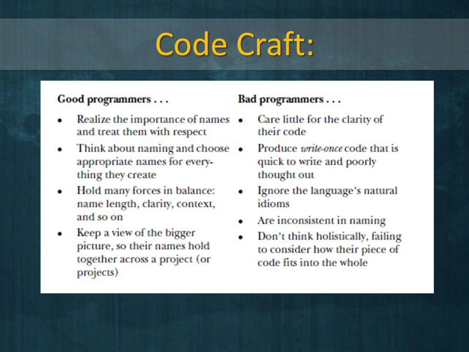 Code Craft: