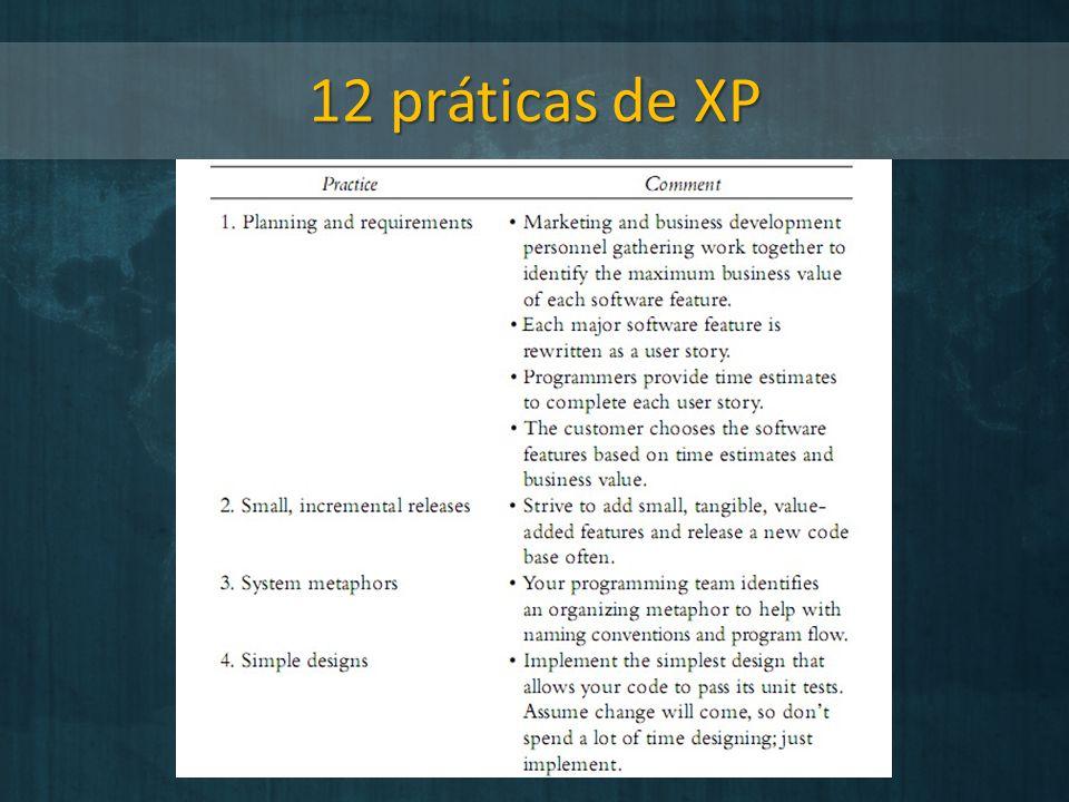12 práticas de XP