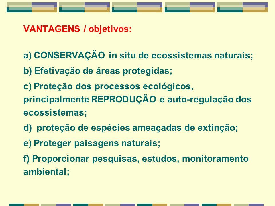VANTAGENS / objetivos: