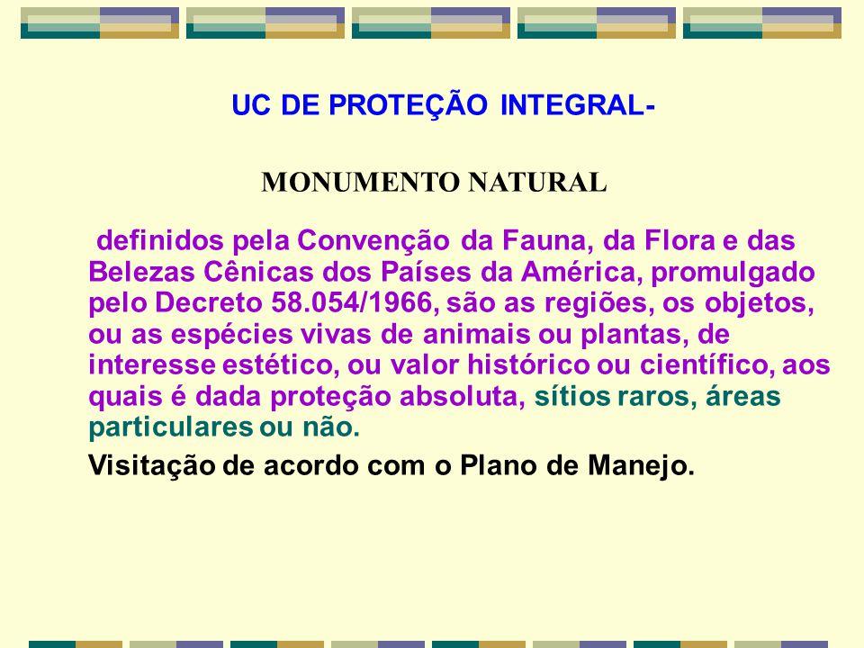 UC DE PROTEÇÃO INTEGRAL-