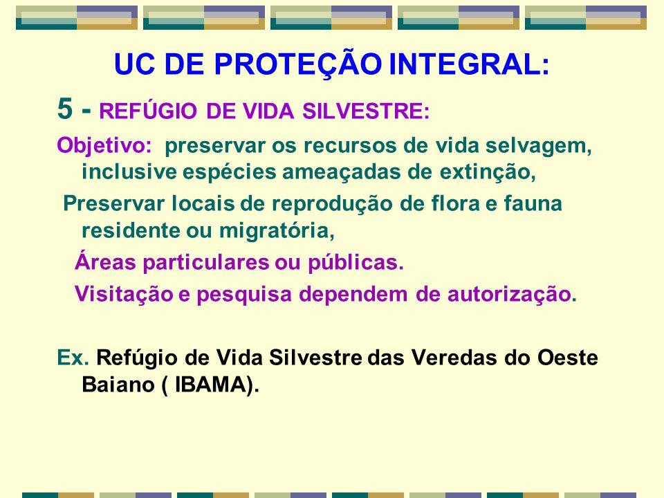 UC DE PROTEÇÃO INTEGRAL: