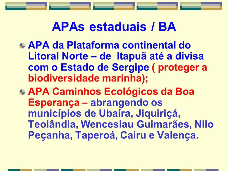 APAs estaduais / BA