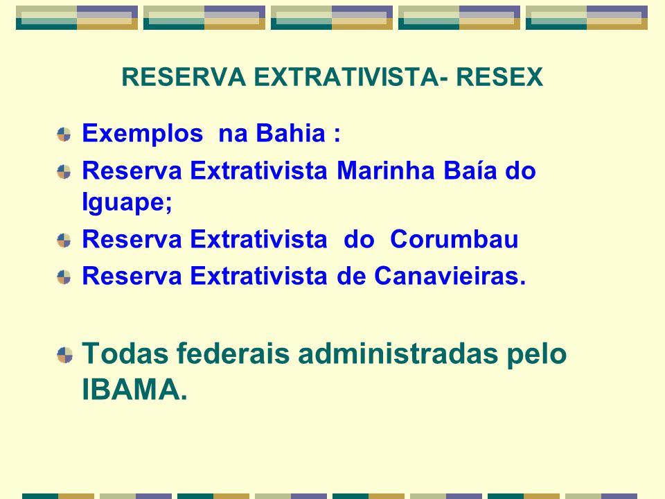 RESERVA EXTRATIVISTA- RESEX