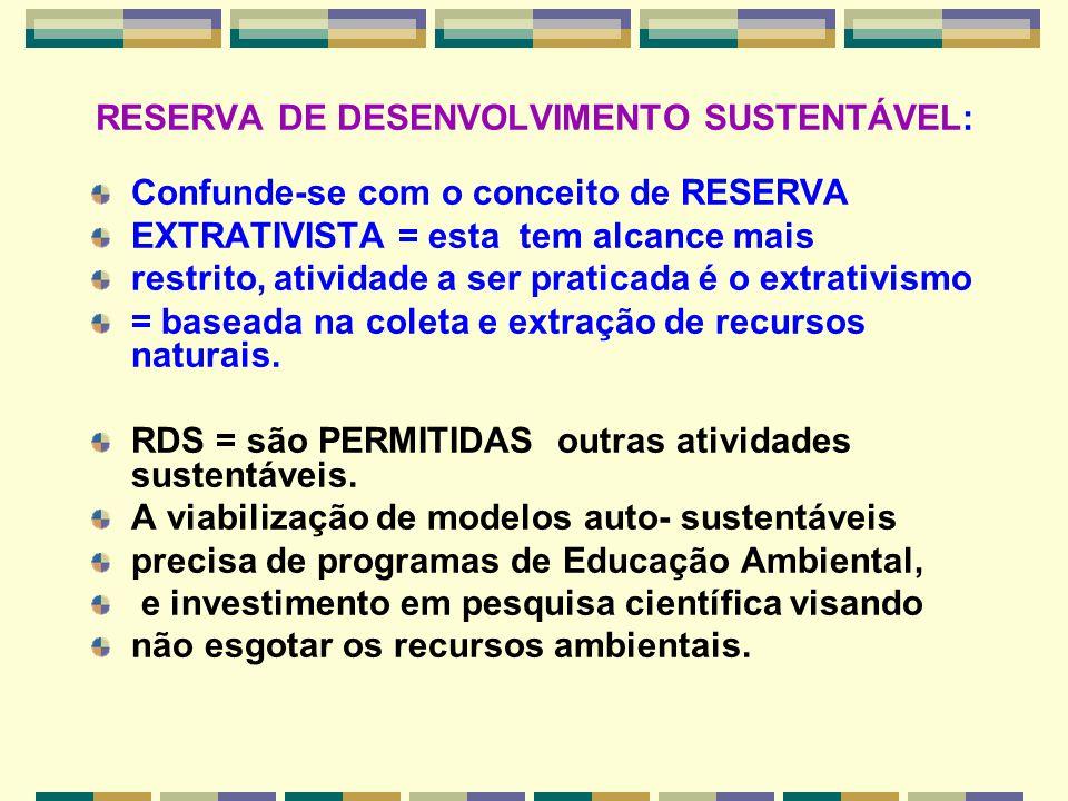 RESERVA DE DESENVOLVIMENTO SUSTENTÁVEL: