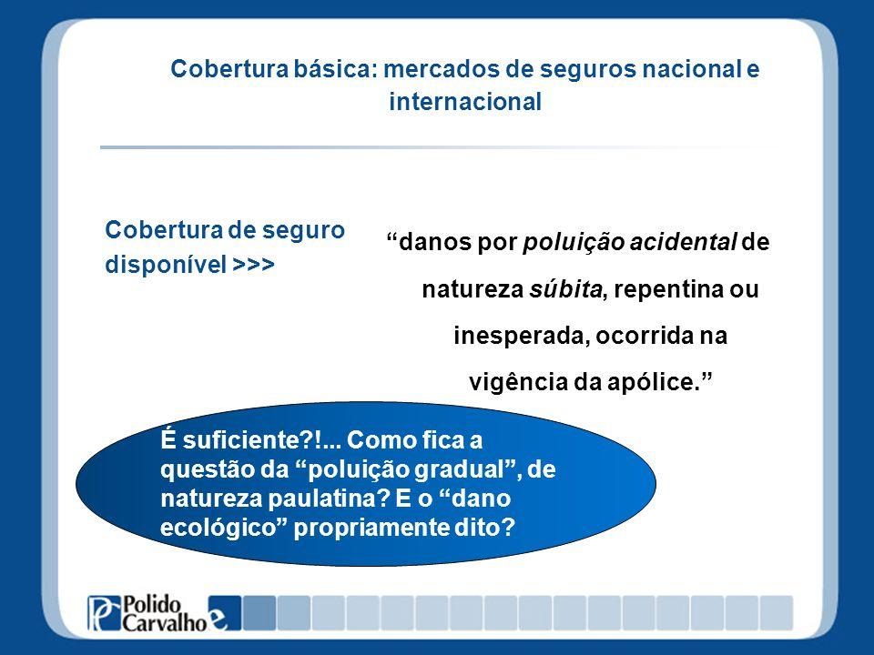 Cobertura básica: mercados de seguros nacional e internacional