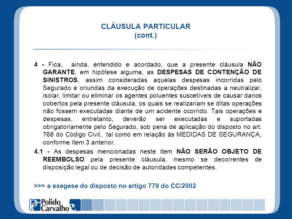 CLÁUSULA PARTICULAR (cont.)