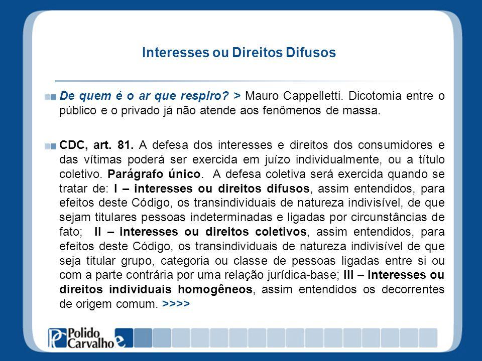 Interesses ou Direitos Difusos