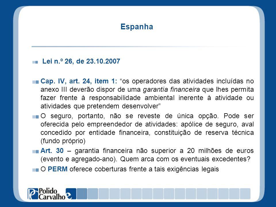 Espanha Lei n.º 26, de 23.10.2007.