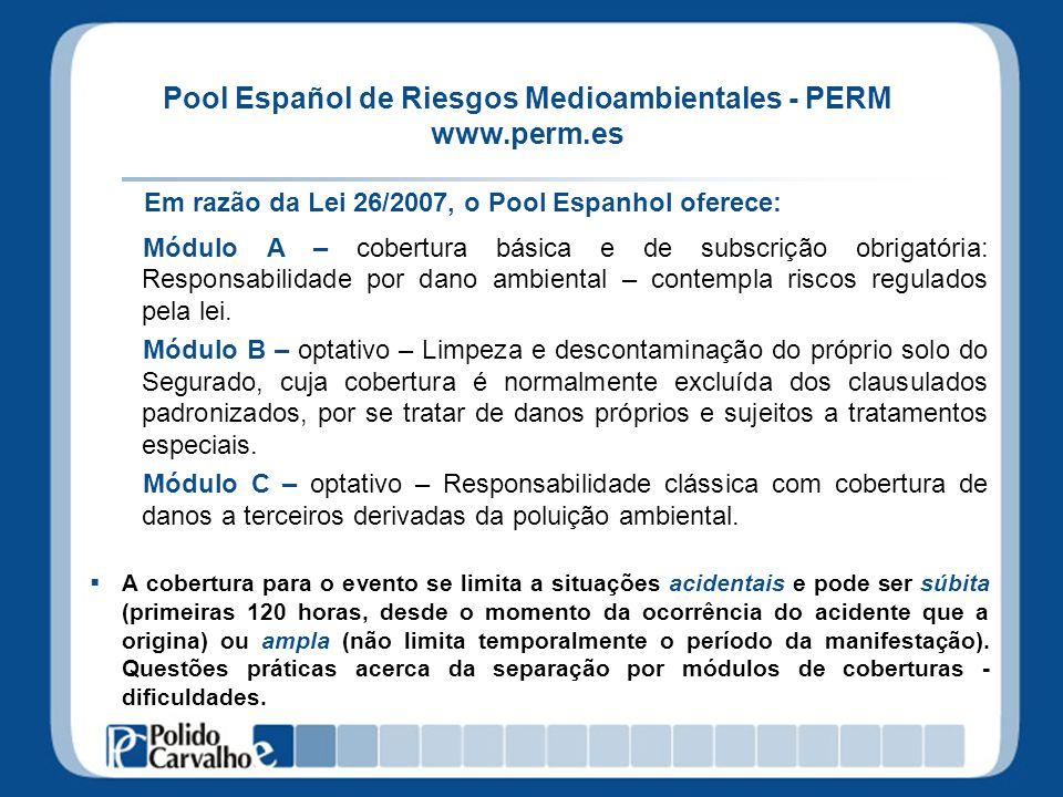Pool Español de Riesgos Medioambientales - PERM www.perm.es