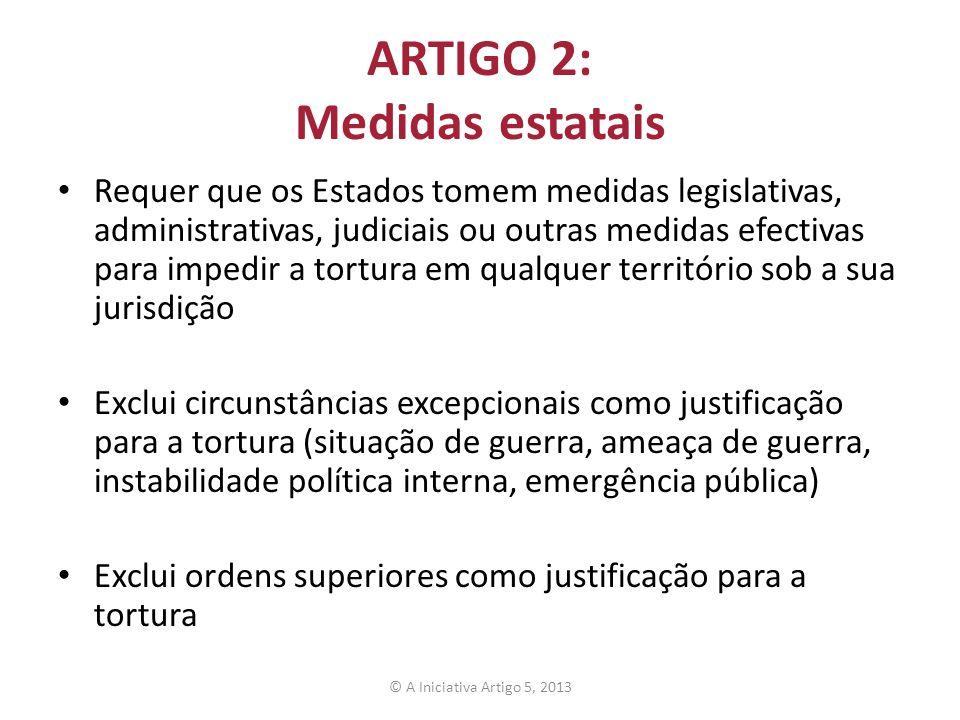 ARTIGO 2: Medidas estatais