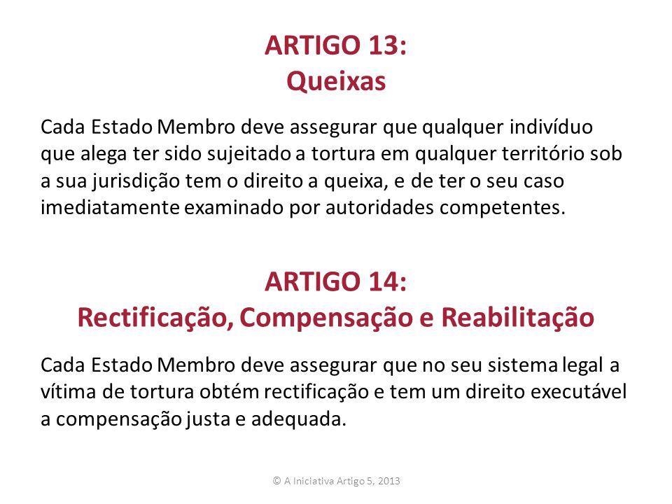 ARTIGO 14: Rectificação, Compensação e Reabilitação