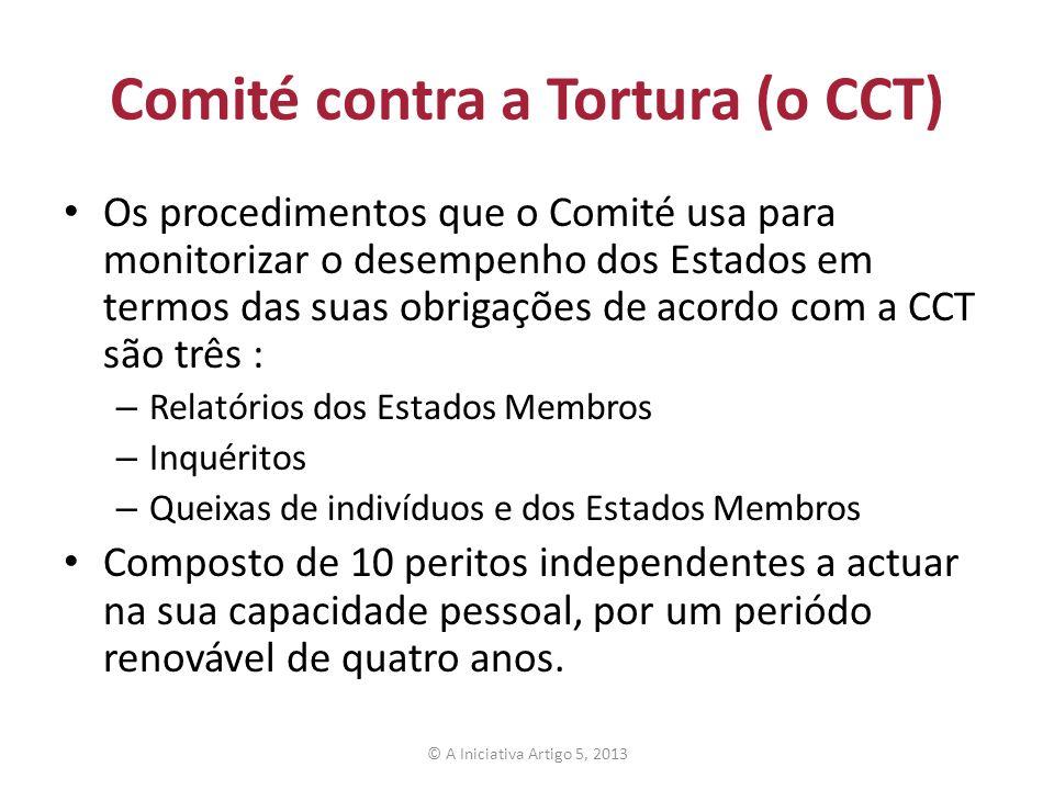 Comité contra a Tortura (o CCT)
