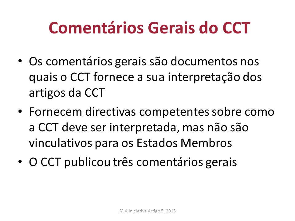 Comentários Gerais do CCT