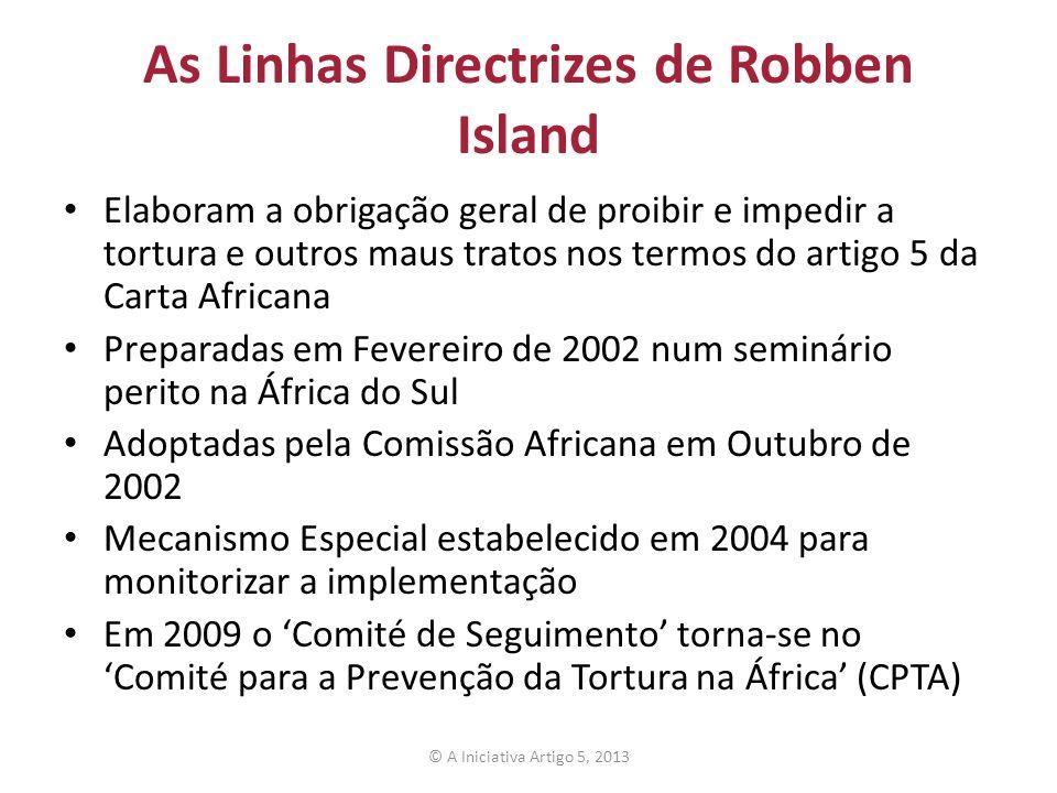 As Linhas Directrizes de Robben Island