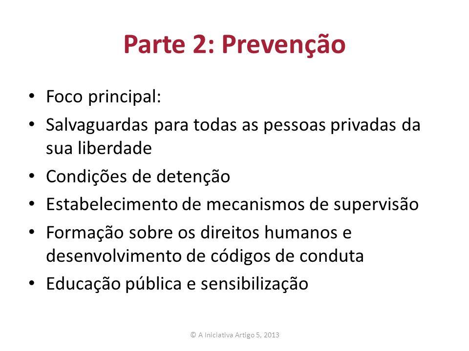 Parte 2: Prevenção Foco principal: