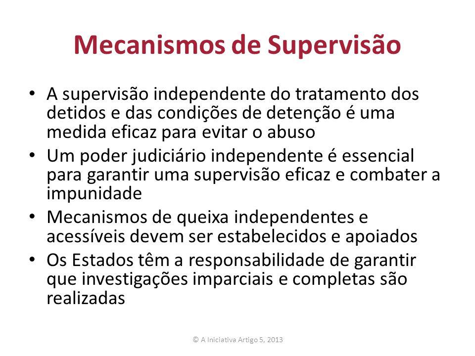 Mecanismos de Supervisão